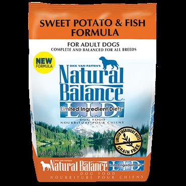 Natural balance l i d sweet potato fish wagz pet for Natural balance fish and sweet potato